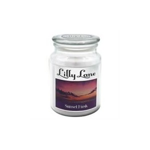 Lilly Lane Sunset Musk Scented Candle Large Lidded Mason Glass Jar – Wax Capacity 510grams, Burn Time Up to 75 Hours, High Qua
