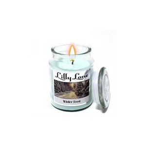 Lilly Lane Winter Frost Scented Candle Large Lidded Mason Glass Jar – Wax Capacity 510grams, Burn Time Up to 75 Hours, High Qu