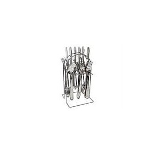 Totally 24pc Cutlery Set - Stainless Stl Retail Box Out of Box Failure Warranty
