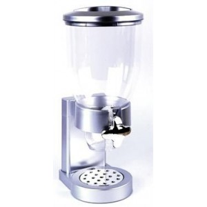Totally Cereal Dispenser - Single - Silver, New design Single cereal dispenser, Made with High Quality material, Dry-food dispen