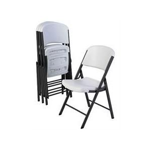 UniQue Steel Folding Chair size 430x450x835mm - White