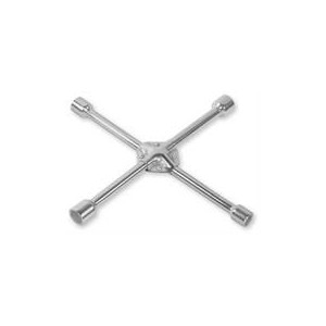 Noble 4 Way Universal Wheel Spanner With Reinforced Centre for added Stability and Durability - Four Socket Heads Fit Most Commo
