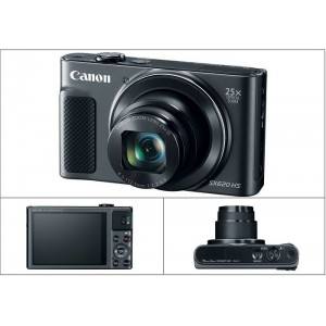 Canon POWERSHOT SX620HS BLACK Digital Camera with Free Accessory Kit (Black)