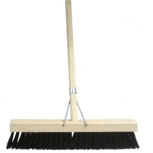 Platform Broom Single Soft 450mm  Soft Bristle