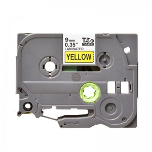 Compatible Brother TZE 621 Labelling Tape Cassette - 9mm Black on Yellow 8m