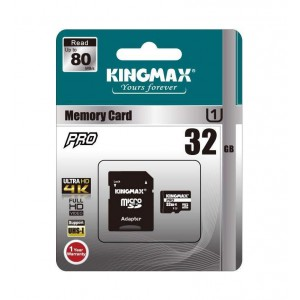 Kingmax 32GB Micro SD + Adapter Class 10