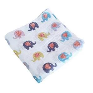 Baby Muslin Blanket- Elephants