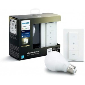 Philips Hue Personal Lighting Wireless Dimming Kit (1x Bulb plus Remote Control)
