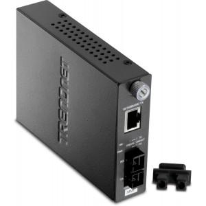 TRENDnet 100Base-TX to 100Base-FX Multi Mode SC Fiber Converter (2 Km, 1.2 Miles) TFC-110MSC (Black)