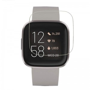 Fitbit Versa 2 Screen Protector Tempered Glass Round Edge Crystal Clear