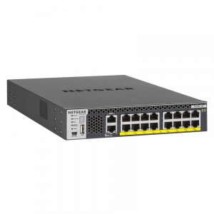 Netgear Half-Width 16 Port 10G Stackable Managed Switch with 16 x10GBASE-T PoE+ Ports