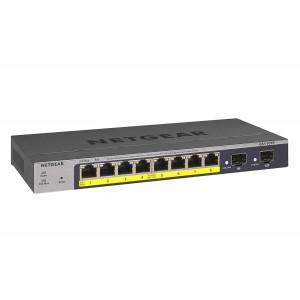 Netgear 8 Port 10/100/1000 Gigabit Ethernet PoE Smart Switch with 8 Ports PoE+ (55W)