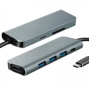 7 in 1 USB C Hub (HDMI x 1, USB 3.0 x 3, DP x 1, SD x 1, TF x 1)