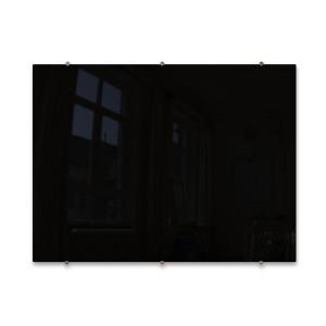 Magnetic Glass Whiteboard (1200x900mm) - Black