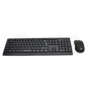 GoFreetech Wireless Keyboard & Mouse Combo - Black