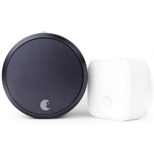 August Smart Lock Pro + Connect Wi-Fi Bridge - 3rd Gen (Black)