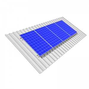 Solar Mount Kit 4 x 60 / 72 cell Portrait Orientation onto Angled IBR Roof