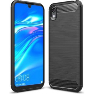 Tuff-Luv Carbon Style Rugged case for  Huawei Y5 2019  - Black