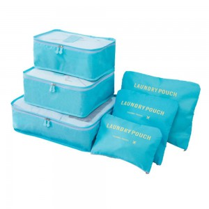 Homemark 6pc Travel Organizer - Light Blue