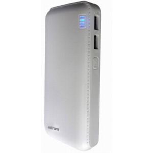Astrum Power Bank 13,000mAh 2amp 2 x USB Port - White