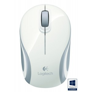 Logitech 910-002735 - Wireless Mini Mouse White M187
