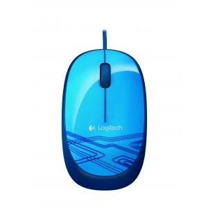 Logitech 910-002943 M105 3 Buttons 1000DPI Corded USB Blue Optical Mouse