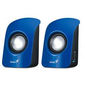 Genius S115 Speakers - 2.0 Channel, 1W RMS, Volume Control, Headphone Jack, USB Powered