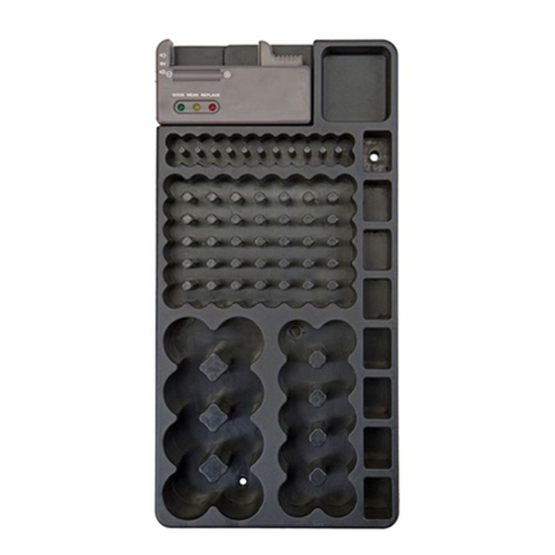 Mountable 98-Battery Organizer with Removable Tester (Holds AA, AAA, C, D, and 9V Batteries)