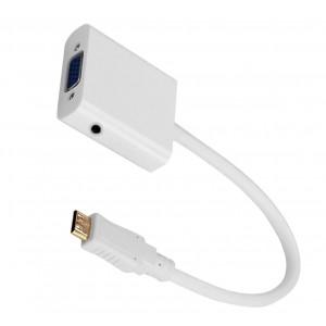 Astrum Smart Digital Converter Mini HDMI to VGA + Audio