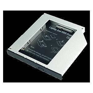 """Lindy Slim ODD Caddy for 2.5"""" SATA HDD 12.5mm"""