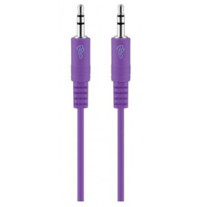 Pro Bass Unite Series Boxed Auxillary Cable - Purple