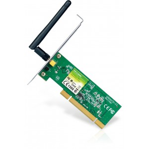 TP-LINK 150Mbps Wireless N PCI Adapter, Atheros, 1T1R, 2.4GHz, 802.11n/g/b, 1x Detachable Antenna