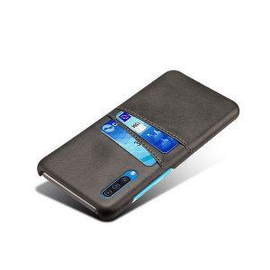 Tuff-Luv Leather Shell Case/Card Slot for Samsung Galaxy A30S - Black
