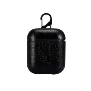 Tuff-Luv Apple Airpods 1/2 Leather Case - Black