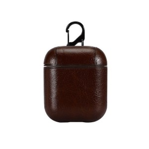 Tuff-Luv Apple Airpods 1/2 Leather Case - Vintage Brown