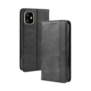 Tuff-Luv Slim Leather Stand Case for the Apple iPhone 11 Pro - Black