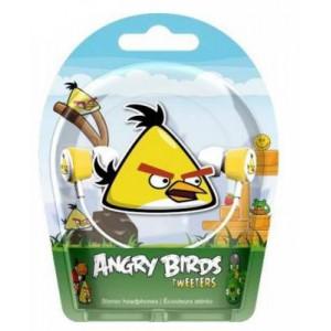 Gear4 Angry Birds In-Ear Stereo Headphones - Yellow Bird Tweeters