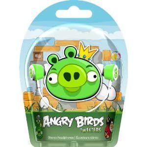 Gear4 HAB003G Angry Birds In-Ear Stereo Headphones - Green Pig Tweeters