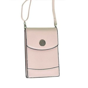 Tuff-Luv Ladies Shoulder Phone Pouch and Purse with Strap - Pink