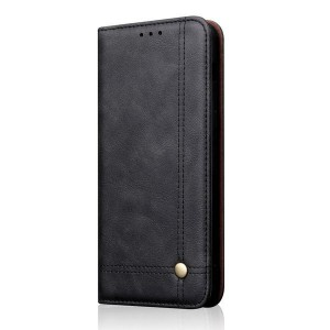 Tuff-Luv Leather Case and Horizontal Stand for Huawei P Smart 2019  - Black