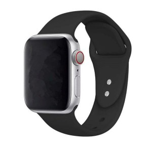 Tuff-Luv Silicone Sports Strap for Apple Watch 4 - Black 44mm