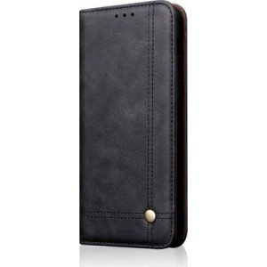 Tuff-Luv Faux Leather Case and Stand for Huawei Mate 20 Lite - Black