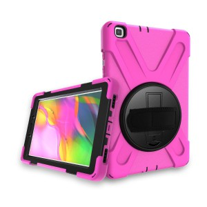 Tuff-Luv Armour Jack Case (Shoulder Strap, Hand band & Stand) for Galaxy Tab A 8.0 T295/T290 - Pink