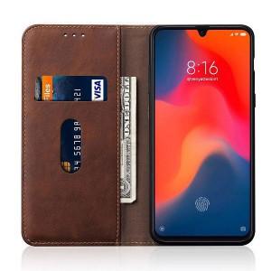 TUFF-LUV Essentials Leather case & Stand Xiaomi Mi 9 - Brown