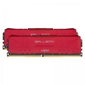 Ballistix 16GBKit (2x8GB) DDR4 3200MHz Desktop Gaming Memory - Red