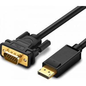 Microworld 1.8m DisplayPort Male to VGA Male Cable