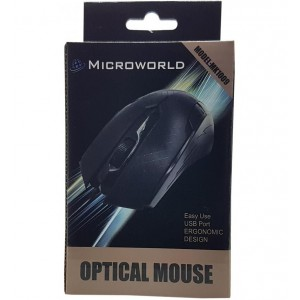 Microworld Ergonomic USB Optical Mouse