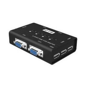 MT Viki 4 Port Manual VGA USB KVM Switch