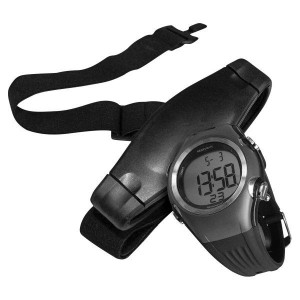 Volkano Active Series Chest Strap Heart Rate Monitor with Wristwatch - Black/Grey