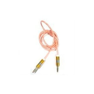 Geeko Auxilary 3.5 inch to 3.5 inch Audio Cable 1.2m - Pink